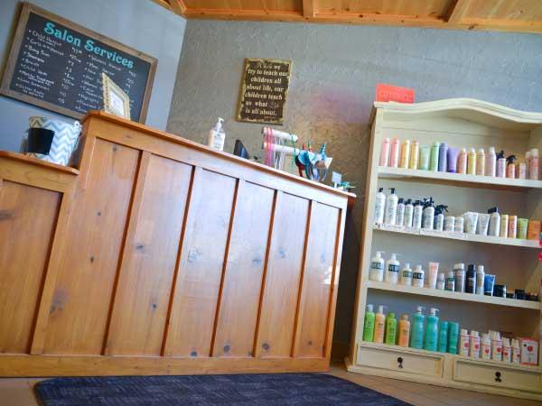Salon Bambino Lobby area, family salon in Woodbury MN